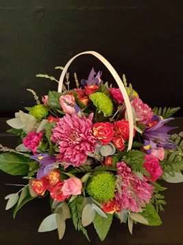 Arrangements: Mixed Seasonal Colourful Basket