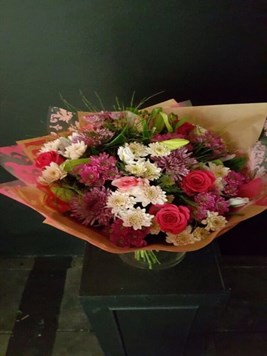 Bouquets: Mixed pink rose, lilie & daisy bunch