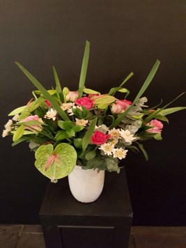 Arrangements:  Vase with seasonal mix flowers