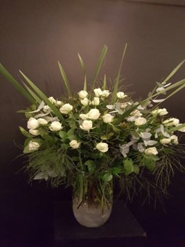 Arrangements: White Rose Vase